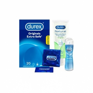 Durex Intimate Giftbox (Extra Safe 20 + Sensitive 50ml + Naturel Gel )