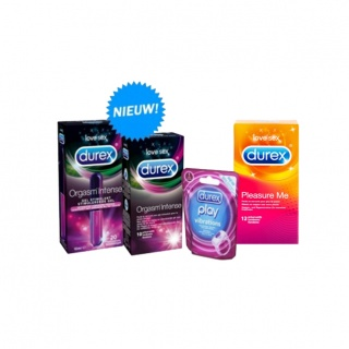 Durex Stimulerend Pakket (Orgasm intense Condoom + Gel -Pleasure me Condooms- Vibrations)