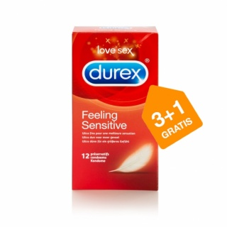 Durex Feeling Sensitive condooms (12 stuks 3+1 GRATIS)