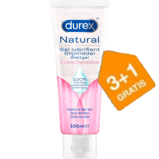 Durex Glijmiddel Natural Extra Sensitive (3+1 GRATIS)